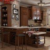 Uの形のカシの固体自然な木製の食器棚(GSP10-007)