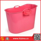 Tina de baño plástica material de la categoría alimenticia PP5 para el adulto