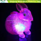 LED parpadeante Sonido Lignt up Puffer Rabbit Spiky Ball