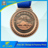 専門家によってカスタマイズされる記念品の金属は賞のための自由なデザインのメダルを遊ばす