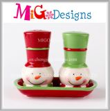 Presentes de Natal Atacado Ceramic Salt and Popper Shaker Set