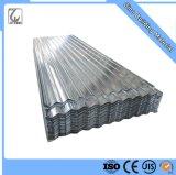A653 Zinc fer galvanisé ondulé feuille de métal de toiture de toit