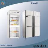 Refrigerador comercial vertical del congelador de refrigerador de Lqt para los restaurantes de los hospitales de los hoteles de los supermercados
