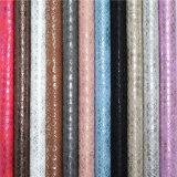 Alto cuero de zapato sintetizado grabado de la PU del efecto de la perla de la resistencia de abrasión
