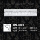Corona decorativa de la hoja de la PU que moldea para la decoración Hn-8069 del techo
