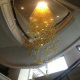 Nuevo diseño de la luz de las bolas de cristal soplado redondo lámpara colgante