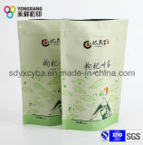 乾燥された花またはフルーツの茶のためのジッパーが付いているアルミホイルのDoypack袋を立てなさい