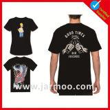 100%년 면 짧은 소매 실크스크린 인쇄 t-셔츠
