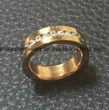 형식 보석 스테인리스 로즈 금 CZ는 둥글게 된다 (CZR2519)