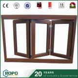 [بفك] يعمي زجاج مزدوجة داخليّة يطوي نافذة وخشب إطار نافذة