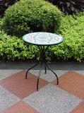 Jogo antigo da tabela dos restaurantes do mosaico do ferro