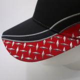 La broderie faite sur commande recouvre la casquette de baseball promotionnelle de chapeau de Snapback de chapeau de chapeaux de coton de Burshed
