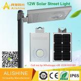 La venta 30W 40W 60W del fabricante integró directo todos en un precio solar de la luz de calle del LED