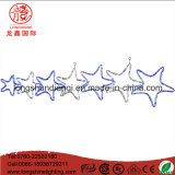 LED Seven Star Twinking Blue Rope Motif Light Decoração de Natal para iluminação ao ar livre