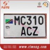 Fahrzeug-Nummernschilder für Tanzania