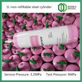 cilindro de gás 1L de aço Non-Refillable En12205