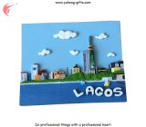 Lagos-Tourismus-Andenken-Harz Polyresin Kühlraum-Magneten (YH-FM091)