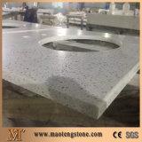 Белый Countertop камня кварца Sparkle