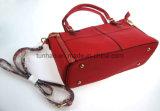幾何学的なパッチワークの方法デザイン女性PUのハンドバッグの学生かばん袋
