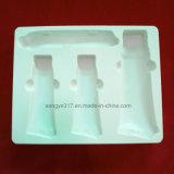 Weißes hochwertiges PS-Blasen-Tellersegment für das Kosmetik-Verpacken