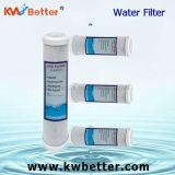 Cartucho de filtro de agua del CTO con el cartucho de filtro hecho girar de agua