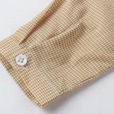 Рубашки проверки мальчиков одежд малышей на весна/осень