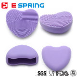Цветастая форма сердца чистая составляет чистку доски скруббера перчатки кремния щетки мытья