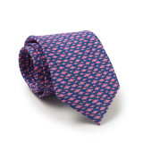 100%の絹ポリエステルは花の編まれたネクタイに点を打つ