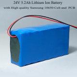 24V 5.2A Pak van de Batterij van het Lithium het Ionen met Hoog Eind 18650 Leverancier van de Macht 29.4V van Cellen de Reserve Reserve met Maximum 15A Stroom