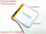 3.7V, 2500mAh, bateria de 606168 Li-íons para o móbil modelo Bluetooth do brinquedo