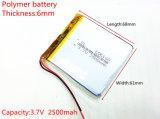 3.7V, 2500mAh, 606168 Li-Ion Batterij voor ModelStuk speelgoed Mobiele Bluetooth