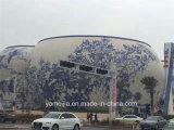Panneaux de décoration murale extérieure en plaques en aluminium massif recouvert de couleur