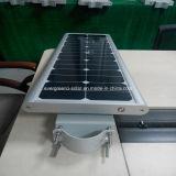 Todo em um painel solar monofolar solar com luz solar de rua de 40watt.