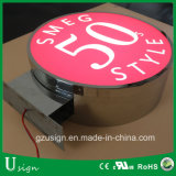Rectángulo ligero plástico al aire libre de la publicidad LED para el almacén
