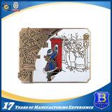 Старинных бронзовых медали сувениров медальон с эмалью