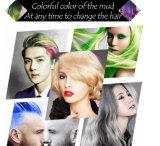 Eigenmarken-Haar, das Wachs-Farben-Haar-Schlamm-Lehm-Temporäres Farben-Haar anredet ---Agenzien gewünscht/Eigenmarke