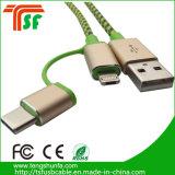 Câble usb chaud des accessoires 3in1 de téléphone mobile de ventes d'usine de Mfi