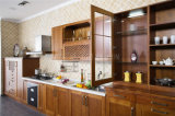 Gabinete de cozinha da madeira contínua da cereja