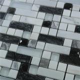 プールのための熱い販売8mm厚く混合されたカラークリスタルグラスおよび大理石の石造りのモザイク