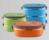 Caja de almuerzo de acero inoxidable de doble capa con certificado LFGB