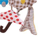 올빼미 아기 음악 거는 침대 안전 시트 견면 벨벳 장난감