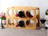 Wijn 6 van het bamboe Vertoning van de Alcoholische drank van het Decor van de Kelder van de Plank van de Houder van de Opslag van het Rek van de Fles de Houten