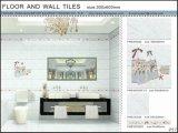 3Dインクジェット床および壁のセラミックタイル(VWD36C620、300X600mm)