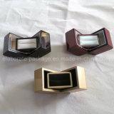 Contenitore di imballaggio di legno di lusso della visualizzazione dei monili dell'anello di cerimonia nuziale