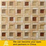 カラーラまたはPectoliteの正方形デザイン石の組合せのモザイク