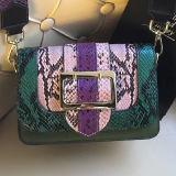多彩な肩ひもEmg5097が付いている新式のHandbags Colorful Snake Leather女性ハンド・バッグのショルダー・バッグ