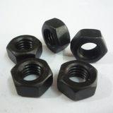 Noir des noix Hex Class6 d'acier du carbone DIN555
