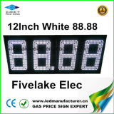 12-дюймовый светодиодный дисплей входа устройства смены инструмента цен на газ (NL-TT30F-3R-DM - 4D-белый)