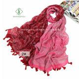 Großer färbender Acajoubaum gedruckt mit Troddel-Dame Fashion Scarf