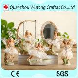 卸し売りヨーロッパ式の結婚式の装飾のPolyresinの天使の置物